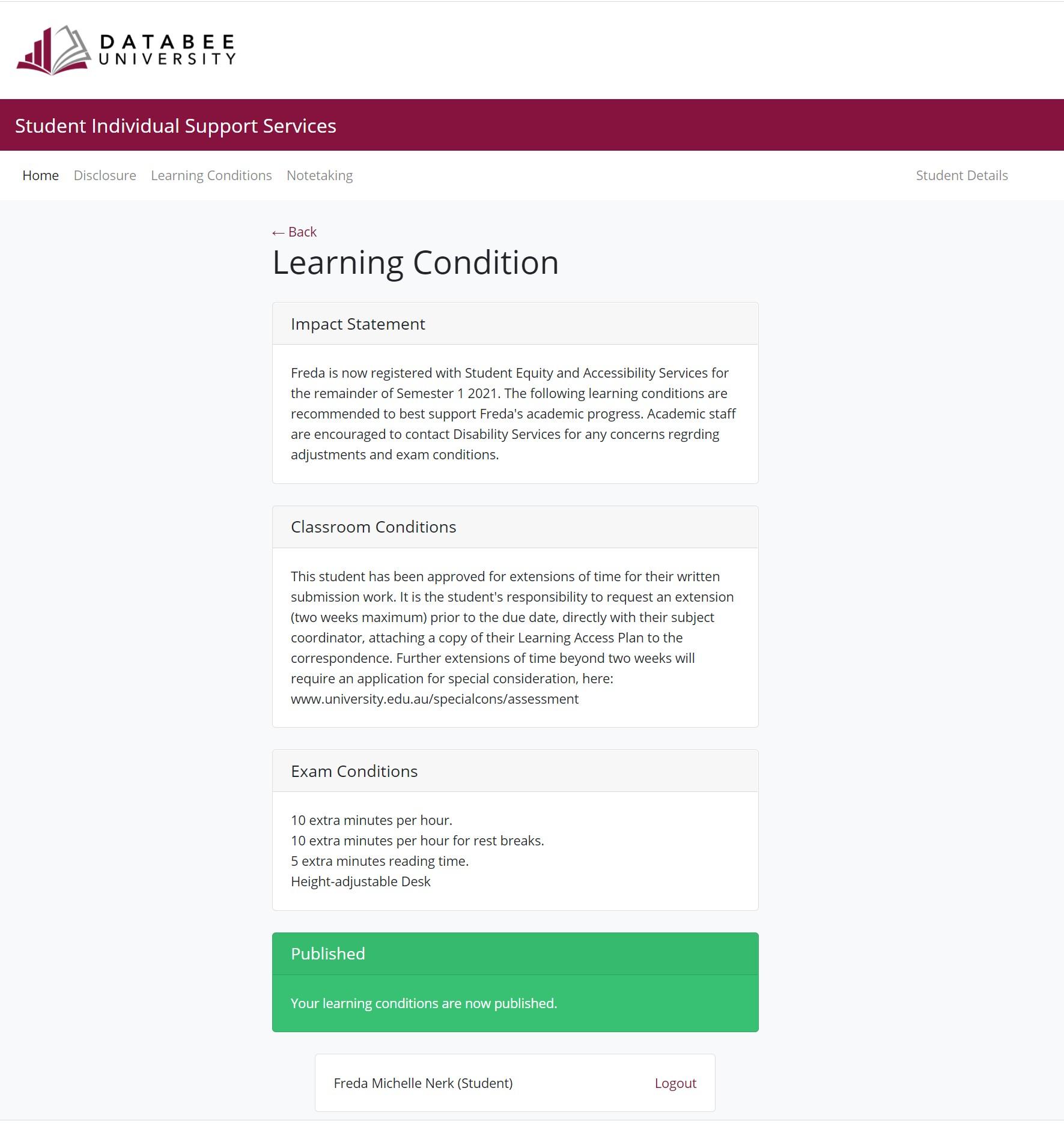 Assist Student Lap Portal